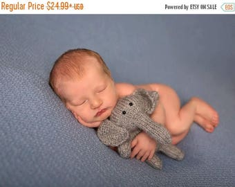 Animal baby toy - elephant baby plush toy - gray elephant stuffed animal - grey elephant stuffed animal - elephant new baby toy