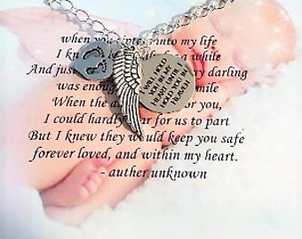 Miscarriage Jewelry - Memorial Jewelry - Infant loss - miscarriage necklace - child loss - memorial necklace - memorial gift