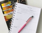 SW Food Diary upgrade / add-on to be purchased with a Retro from Scratch recycled notebook - do NOT purchase separately