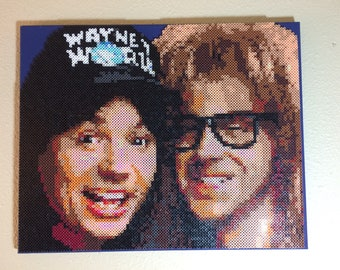 Wayne's World bead portrait