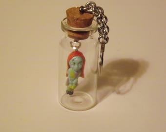 Zombie Girl Key Chain
