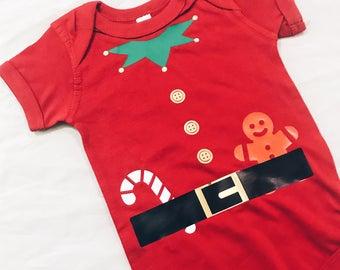 Elf Baby Romper - Baby, Toddler, baby shower, Christmas onesie, costume onesie, Santa onesie