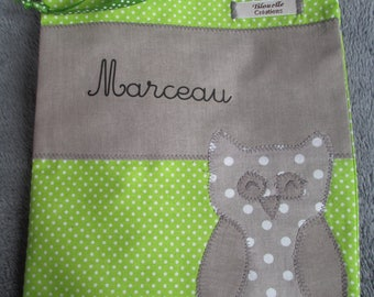 bag, personalized blanket for Marceau!
