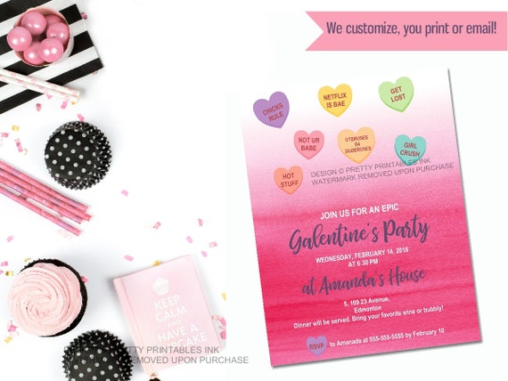 Printable galentines day invitation galentines party il570xn stopboris Image collections