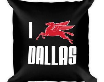 Love Dallas - Black Art Pillow
