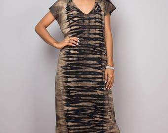 Halter dress, Tie dye dress, bleached dress, tube dress, a line dress, hippie dress, festival dress, split dress  : Funky Bleach Collection