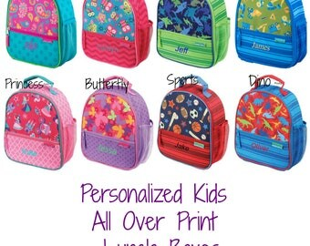 Monogrammed Kids Lunch box / Kids lunch bag / Monogrammed lunch box / All over Print