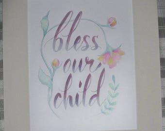 Bless Our Child Nursery Art