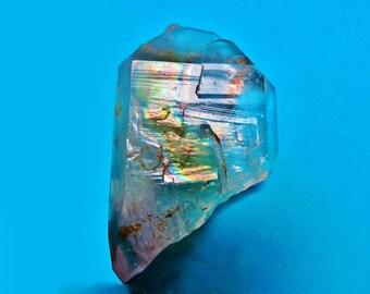 Shamanic Quartz Crystal Iridescent Rainbows Golden Healer TWIN Master Crystal  Metaphysical Mineral Specimen
