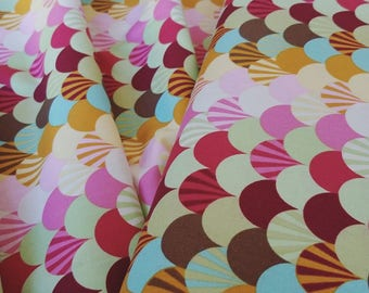 Tula Pink - Parisville - Fans in Sprout - 1/2 yard