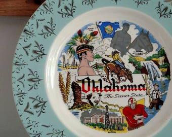 Oklahoma State Travel Souvenir Decorative Plate