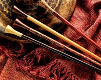 """Lantern Moon 12"""" Rosewood Straight Knitting Needles in a Variety of Sizes"""
