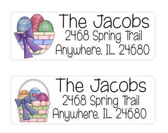 Easter Return Address Labels, Envelope Seals Easter, Easter Basket Tags, Envelope Labels, Printable Address Labels, Easter Gift Tags,  (144)