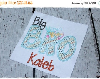 SALE Personalized Custom Big or Lil Bro Embroidered Shirt