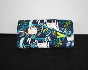 Green and Blue Sloth Necessary Clutch Wallet