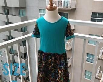 70% Off Teal Animal Print Knit Dress Size 7