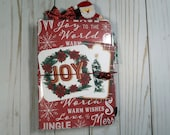 OOAK Christmas B6 Travelers Notebook - Santa Claus, Merry Christmas, Holiday, Gift, December