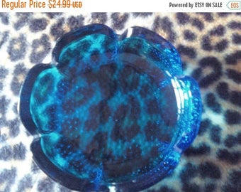 Now On Sale Vintage Collectible Aqua Blue Candy Dish 1960's Housewares Serving