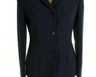Vintage 90s Next Grey Blazer Fitted Preppy Jacket UK 10 US 8
