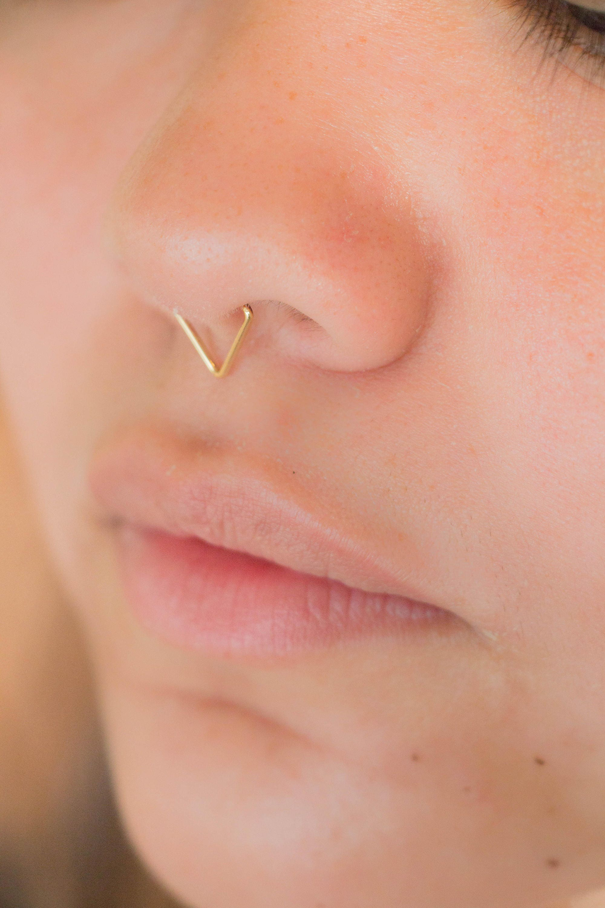 bull ring cow piercing septum ring triangle cartilage