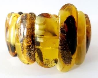 Baltic Amber Bracelet, amber bracelet, amber bracelet, polished amber bracelet, unique, gift, янтарный браслет, 琥珀手鍊, 琥珀ブレスレット