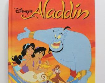 Vintage Walt Disney's Aladdin Hardback Children's Book 1993