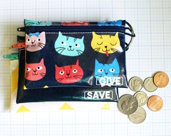 Cats Save Spend Give kids budget wallet set