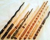 Custom Hand Carved Apple Wood Magic Wand