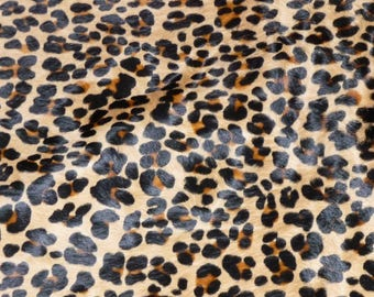 """Hair On Leather 20""""x20"""" New Version Leopard CAMEL BLACK and BROWN Soft Cowhide 4.5-5oz / 1.8-2 mm PeggySueAlso™ E2851-01 hides available"""