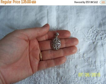 TWICE A YEAR, 25% Off Vintage Scroll Design pendant. Sterling silver.