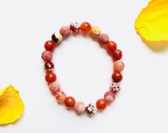 Fire Agate Desire & Creativity Bracelet