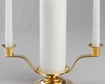 Silver plated unity candle holder