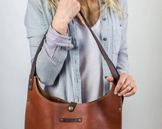 Lenore Leather Tote