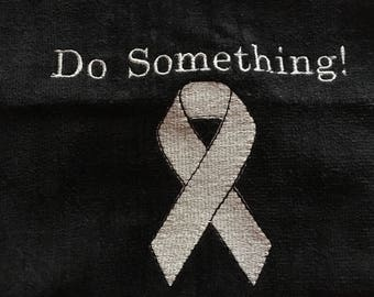 Awareness Ribbon Towels, awareness ribbon, fundraiser towels, golf, fitness, team towels,