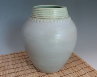 Utensil Holder - Vase - blue - green - stoneware - pottery