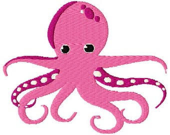 Octopus Machine Embroidery Design - Instant Download