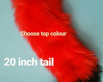 Custom Faux Fur Tail / Kitten /Dog / Wolf