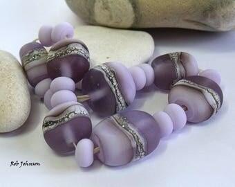 Fengil Stones, Lampwork Pebble Beads, SRA, UK