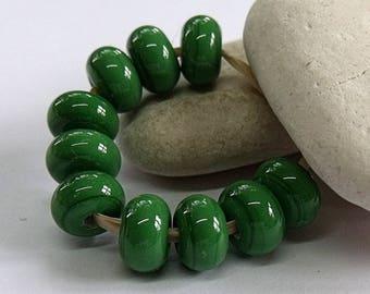 Meadow Grass, Lampwork Spacer Beads, SRA, UK