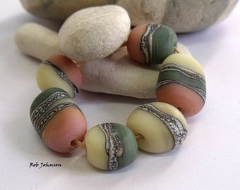 Rhimo Stones, Lampwork Pebble Beads, SRA, UK