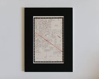 """1950s map of Melbourne suburbs, Australia - Clarinda, Clayton, Monash University, ready to frame, 6 x 8"""""""