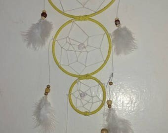3 ring yellow dreamcatcher.
