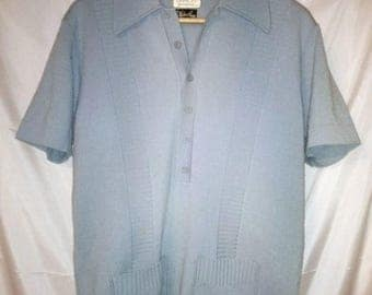 "BIG SUMMER SALE 60s Vintage Damon Wool Italian Knit Mans Front Button Sweater-Rat Pack-Hipster-Frank Sinatra-44"" Chest-Medium-Mad Men"