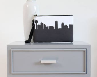 KNOXVILLE Skyline Wristlet Clutch. Skyline Wristlet. Skyline Clutch. Twill Clutch. Skyline Silhouette Purse. Gifts for Her.