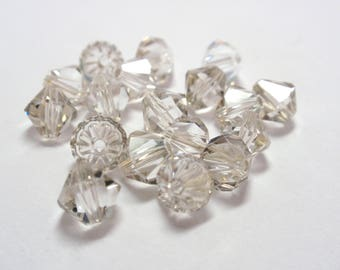 Swarovski Crystal Silver Shade Bicone Beads, #5301 Bicone 4mm, 5mm, 6mm Silver Shade Swarovski Crystals