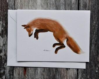 Red Fox - Greeting Card - Woodland Animal Card - Eco-friendly