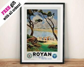 ROYAN TRAVEL POSTER: Vintage French Advert Art Print