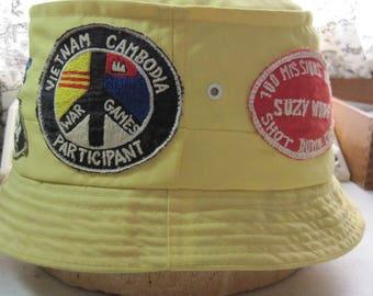 Vietnam War bucket hat with 5 patches