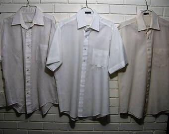 6 Vtg see through shirts size 15 1/2 32 33