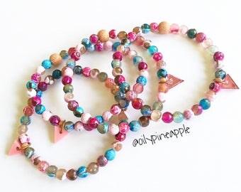 Multi-Toned Summer Agate Bracelet Stacker